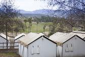 Safari Tents Overlooking the Plains — Stock Photo