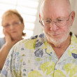 Senior Adult Couple in Dispute or Consoling — Stock Photo