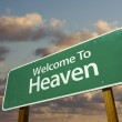 Welcome To Heaven Green Road Sign with d — Foto Stock #2329180