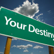 Your Destiny Green Road Sign — Stock Photo #2329958