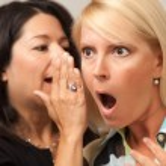 Two Friends Whispering Secrets — Stock Photo #2350169