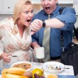 Late for Work Stressed Couple Check Time — Stock Photo #2354426