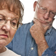 Stock Photo: Senior Couple in Argument