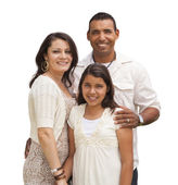 Hispanic Family Isolated on White — Stock Photo
