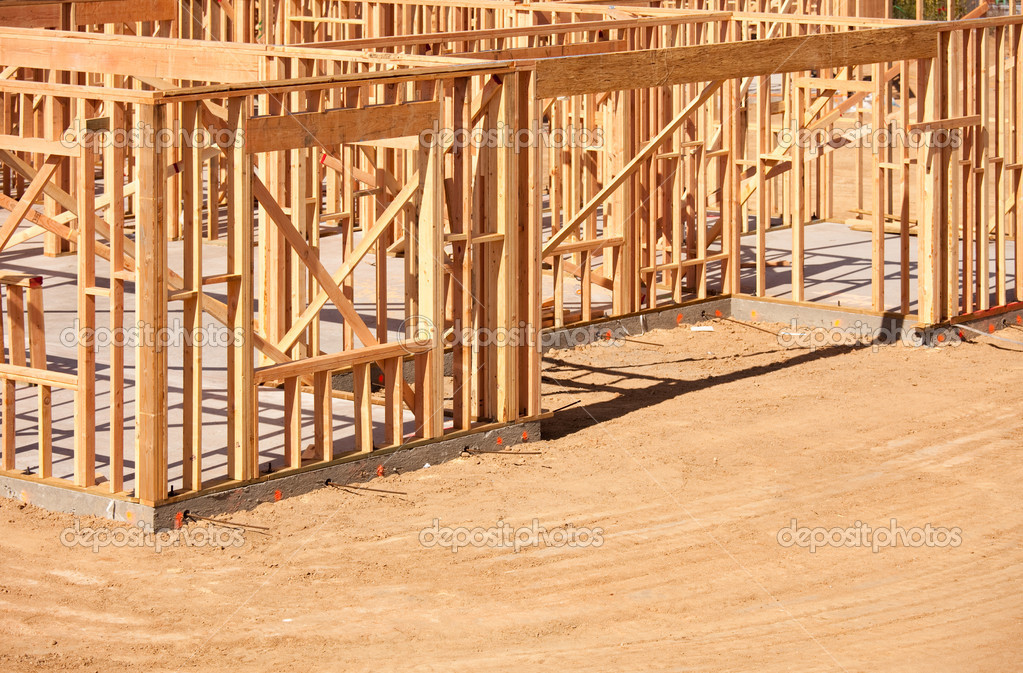 New Residential Home Construction Framing Site J Stock