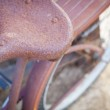 Abstract of Old Rusty Antique Bicycle Sea — Stock Photo
