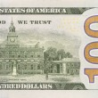 Back Right Half of the New One Hundred Dollar Bill — Zdjęcie stockowe