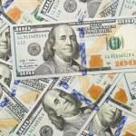 Random Angled Layer of the New One Hundred Dollar Bill — Foto Stock