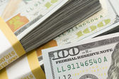 Abstract Detail of Newly Design U.S. One Hundred Dollar Bill — Stock Photo