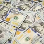 Random Angled Layer of the New One Hundred Dollar Bill — Stock Photo #34506791