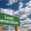 Lead Generation Green Road Sign Over Sky — Foto de stock #36287173