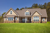 Newly Constructed Modern Home Facade — Stock Photo