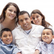 Happy Attractive Hispanic Family Portrait on White — Stock Photo #37190195