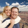 Happy Affectionate Couple at the Grand Canyon — Stock Photo #37880499