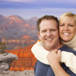 Happy Affectionate Couple at the Grand Canyon — Stock Photo #37880503