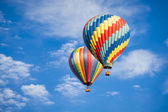 Beautiful Hot Air Balloons Against a Deep Blue Sky — Stock Photo