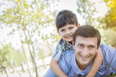 Father and Son Playing Together in the Park — Stock Photo