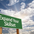 Expand Your Skillset Green Road Sign — Stock Photo #48964295