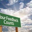 Your Feedback Counts Green Road Sign — Stock Photo #48964417