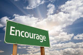 Encourage Green Road Sign — Stock Photo