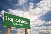 Tropical Storm Green Road Sign — Stock Photo