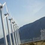 Dramatic Wind Turbine Farm — Stock Photo #5259729