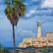 Vertical view of the castle of El Morro in Havana — Stock Photo #12624380