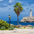 The castle of El Morro in Havana and a nearby park — Stock Photo #12624381
