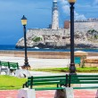 The castle of El Morro in Havana and a nearby park — Stock Photo #12624383