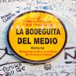 Sign with graffitti at LBodeguitdel Medio in Havana — ストック写真 #12659660
