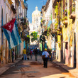 Typical street in Old Havana — Stock Photo