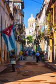 Typical street in Old Havana — Стоковое фото