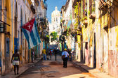 Typical street in Old Havana — 图库照片