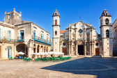 The Cathedral of Havana on a beautiful day — Stock Photo