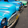 Old shabby american cars in Cuba — Stock Photo