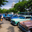 Old shabby american cars in Cuba — Stock Photo #12822088