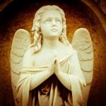 Vintage image of a praying angel — Stock Photo