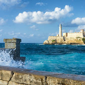 Storm in Havana and the castle of El Morro — Stock Photo