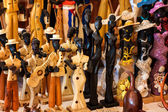 Handicraft for sale in a cuban street market — Stock Photo
