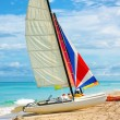 Sailing boat at the beach of Varadero in CUba — Stock Photo #14868813