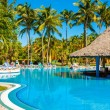 Stock Photo: Beautiful outdoors pool at hotel in Varadero