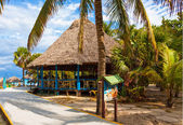 Bar by the beach in the cuban beach in Varadero — Stock Photo