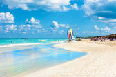 The famous beach of Varadero in Cuba — Stock Photo