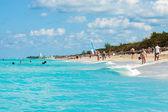 Piękny dzień na plaży varadero na kubie — Zdjęcie stockowe