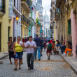 Street scene with in Old Havana — Stock Photo