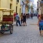 Cuban on a street in Old Havana — Stock Photo