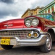 Classic red Chevrolet in Havana — Stock Photo