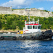 Tugboat  in the bay of Havana - Stockfoto