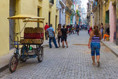 Cuban on a street in Old Havana — Stock Photo