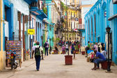 Street in Havana with and old buildings — Stock Photo